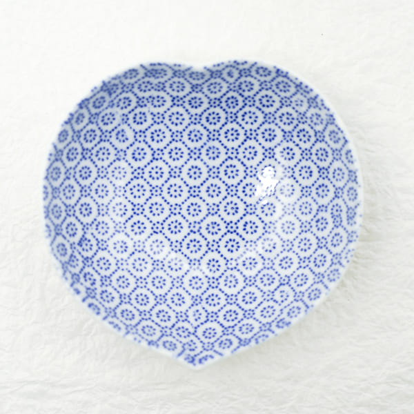お皿/豆皿 印判 桃/東屋