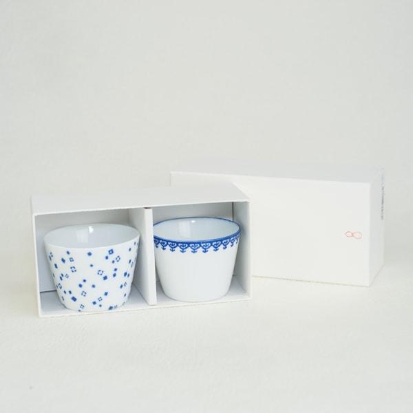 [Set] [Exclusive box] Pair Inban-Soba choko / Arare + Youraku/ Azmaya