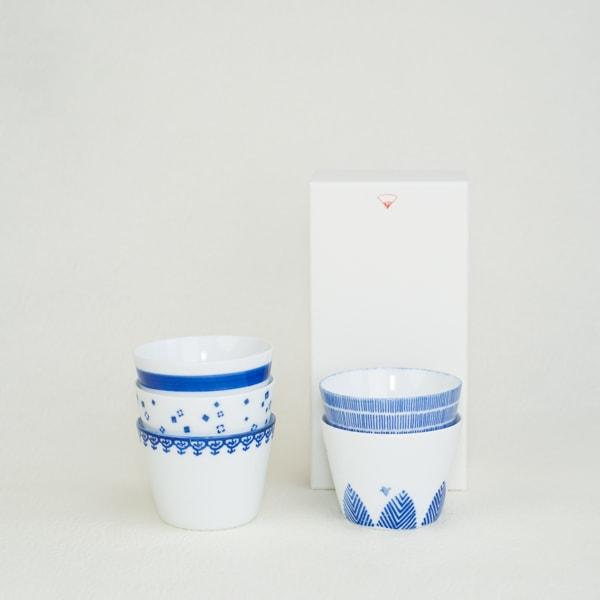 [Set of 5] [Exclusive box] Inban-Soba choko / Azmaya