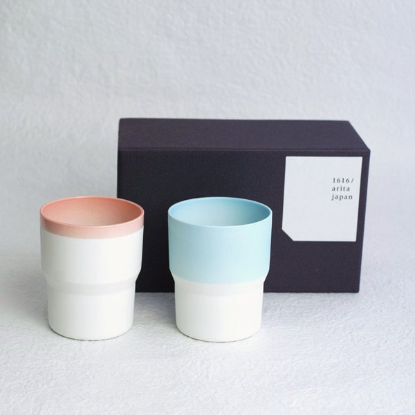 [Set] [Exclusive Box] Pair Mugs / Pink & Light blue / S&B series / 1616 arita japan