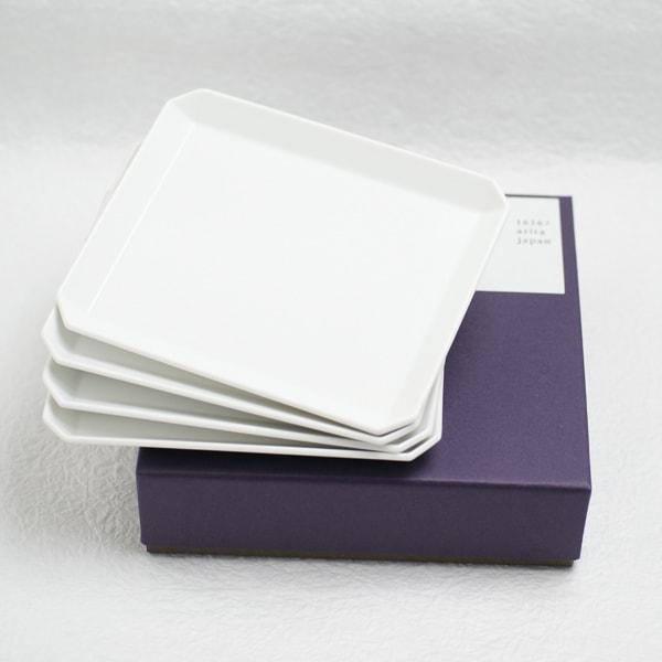 【セット】スクエアプレート165 4枚組 化粧箱入