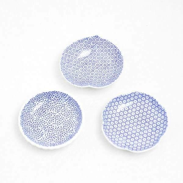 【セット】印判豆皿 3枚組丸型(化粧箱入)/東屋