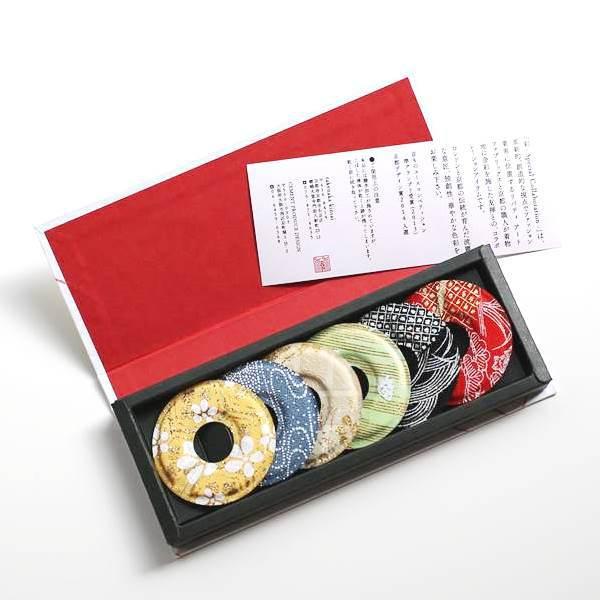 GLASS MARKER リバティアートファブリックス×竹中金彩 6枚セットスペシャルコレクション