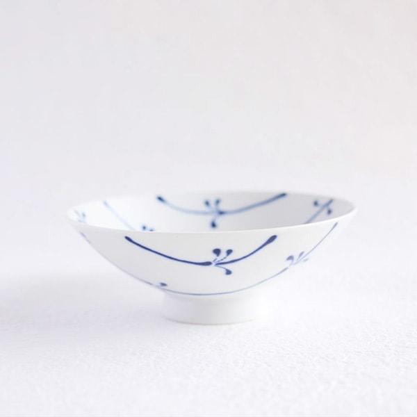 Flat rice bowl/ White Mat ST-17/ Hakusan Toki