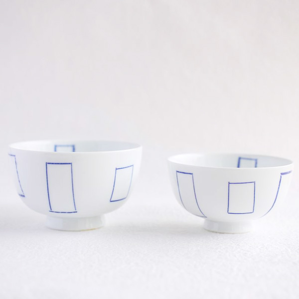 【A set of 2 bowls】A pair of two rice bowls Madobe (Exclusive box)/ Azmaya