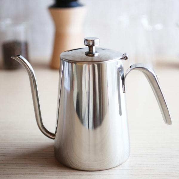 【Sold out】コーヒー道具/スローコーヒースタイル ケトル シルバー/KINTO(定価¥6000)
