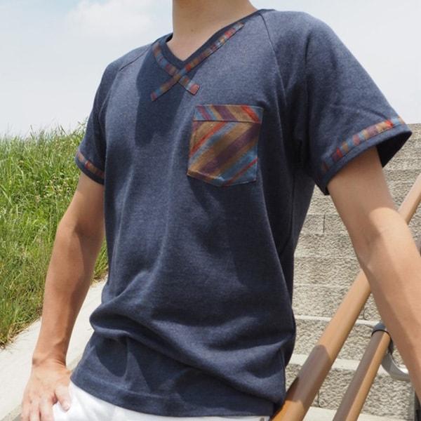 【クリエイターズ】伝統工芸 meets Tシャツ(Classic・ネイビー)