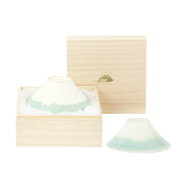 [Set] [Paulownia box] Pair FUJI WAN / Light Blue / Floyd