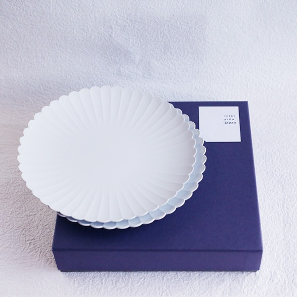 [Set] [Exclusive box] Palace Plate x 2 / φ220 (x2) / 1616 arita japan