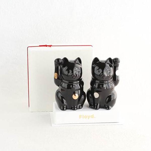 招き猫・黒/フォーチュンキャットブラック/Floyd