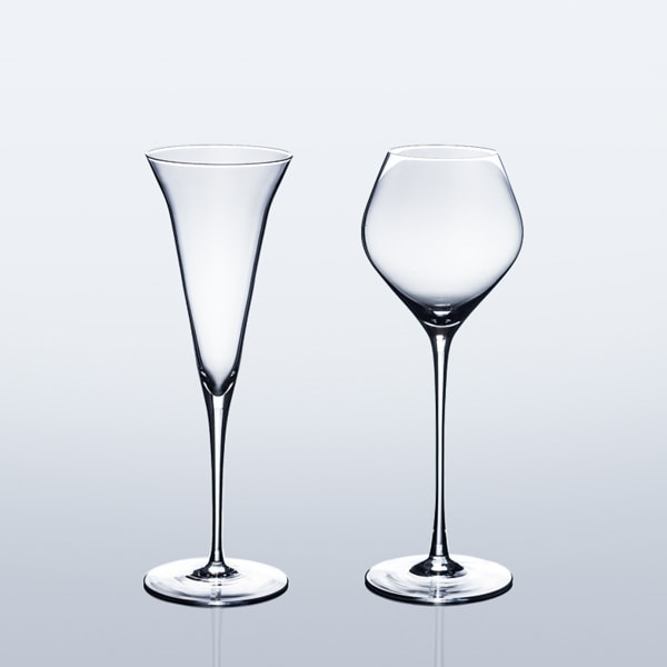 【Set】ETERNAL GLASS/SAKE Glass/KAORI and ARAKUCHI/GiftBox/WIRED BEANS