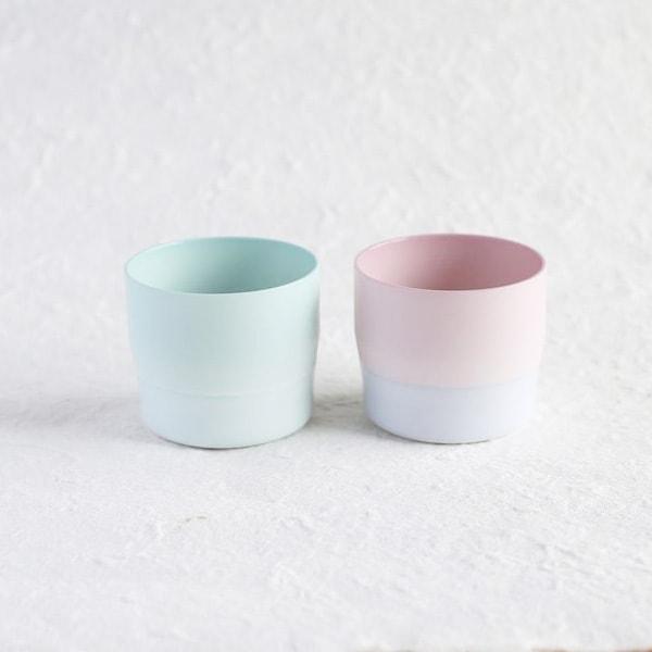 【セット】1616/arita japan S&B ペアエスプレッソカップ ライトブルー&ピンク(化粧箱入)