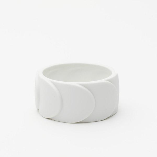 Bracelet DRAKE CUFF No.2 White /2016 Saskia Diez