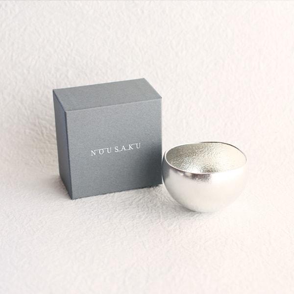 Kuzushi-Yure / Sake cup / Silver / Nousaku