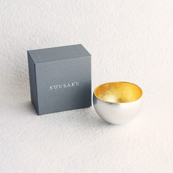 Kuzushi-Yure/ Sake cup/ Gold/ Nousaku