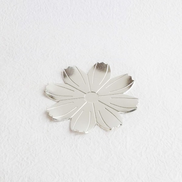 小皿/錫のフラワートレー コスモス/能作