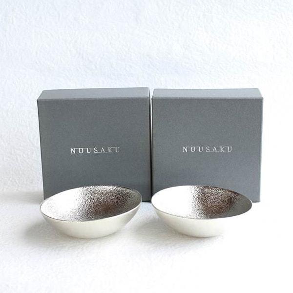 [Set] Pair Kuzushi-Tare / Sake cup / Silver / Nousaku