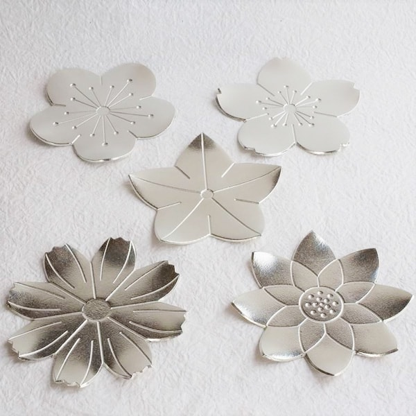[Set of 5] 5 Tin Flower trays/ Nousaku