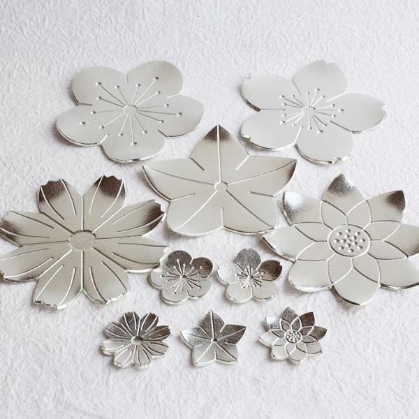 【セット】小皿/フラワートレー5枚・箸置き「花々」/能作