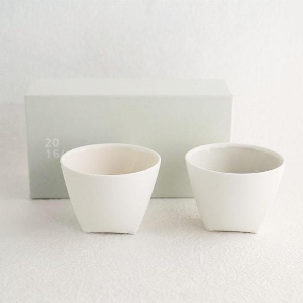 【セット】Tea Cup Gray&Pinkペア ギフトボックス入/2016 arita Christian Haas