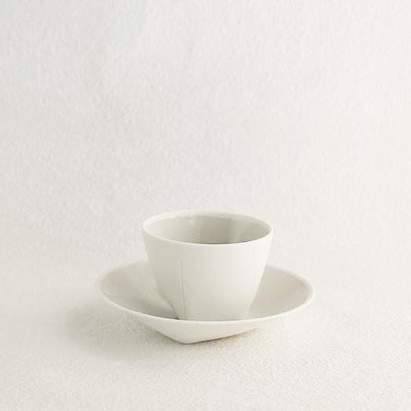【セット】Tea Cup&Deep Plate Gray ギフトボックス入/2016 arita Christian Haas