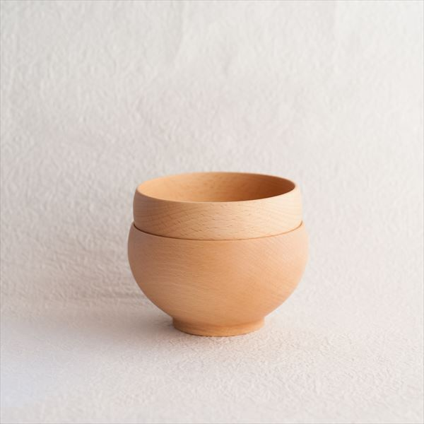 [A set of 2 bowls]Meibokuwan / Beech wood / Medium bowls (Exclusive box) / Sonobe