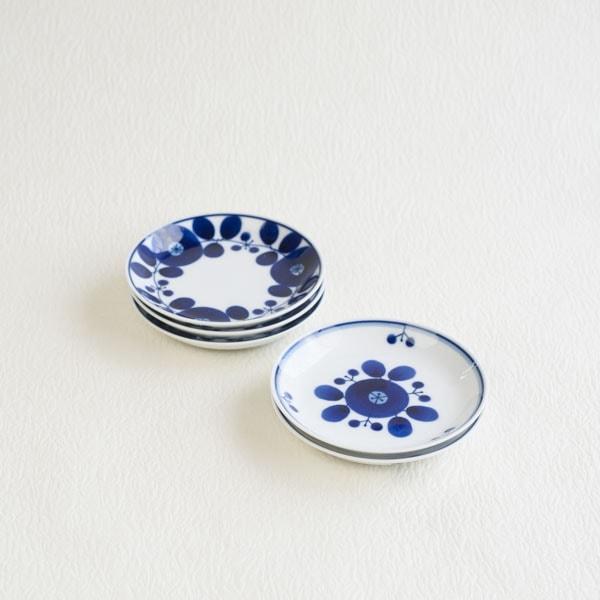 【セット】ブルーム プレートSS リース&ブーケ 5枚セット 化粧箱入/白山陶器