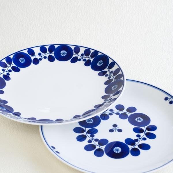 【セット】ブルーム プレートLL リース&ブーケ 2枚セット/白山陶器