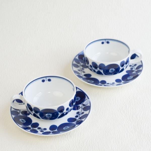 【セット】ブルーム ティーカップ リース&ブーケ ペアセット/白山陶器