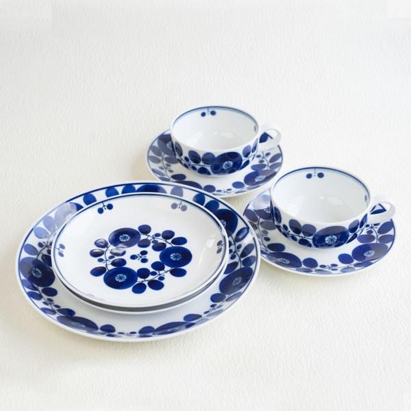 【セット】ブルーム ティータイムセット リース&ブーケ /白山陶器