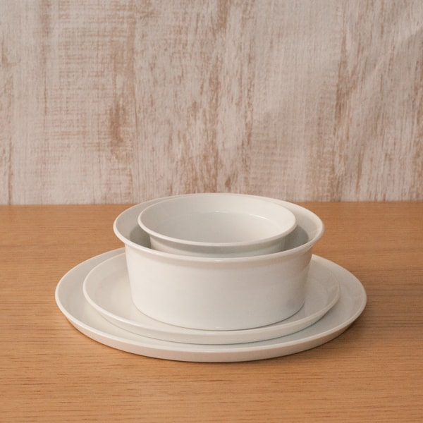 [Set] Basic Western-style tableware set / 4 items