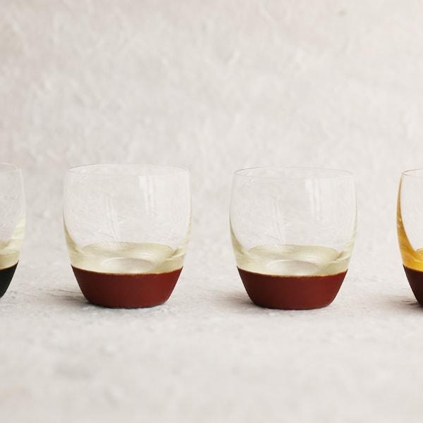 【セット】うるしの酒盃 丸型(銀赤2点セット) ギフトボックス入/鳥羽漆芸