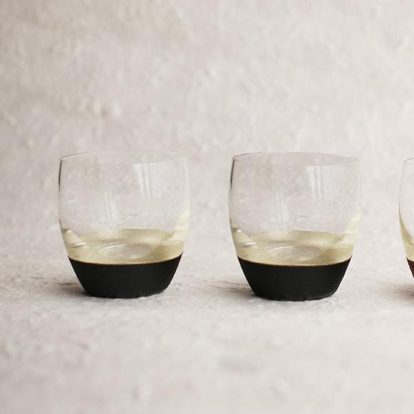 【セット】うるしの酒盃 丸型(銀黒2点セット) ギフトボックス入/鳥羽漆芸