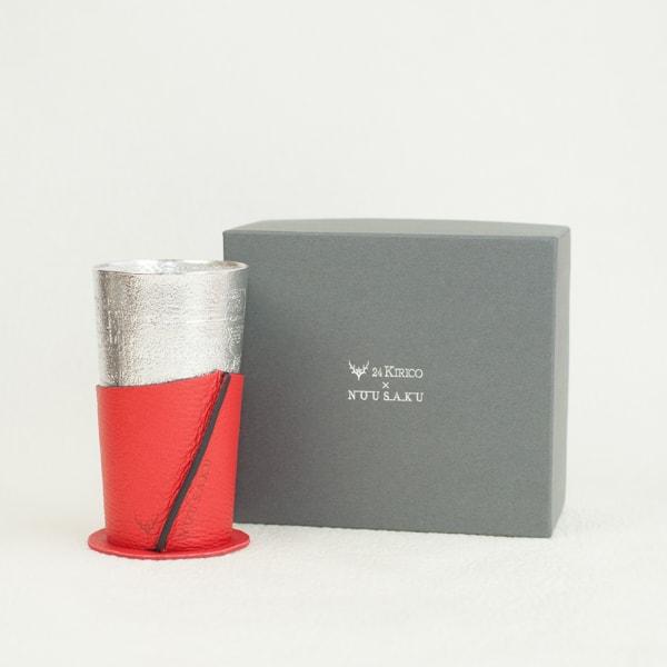 酒器/ビアカップ-シラカバセット レッド/能作