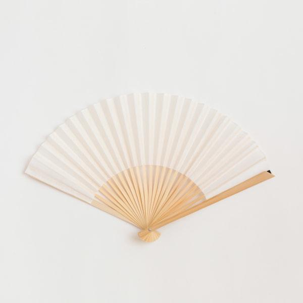 ジャパンギャルド扇子/袂・シロ/西川庄六商店