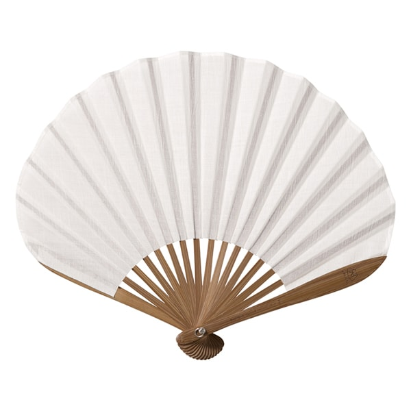 Fuwari fan / Shiro (White) / Nishikawa Shouroku shouten