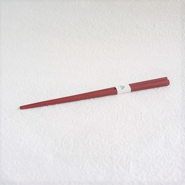Oval lacquered chopsticks / Makiji / Akakuchi-shu (Red)