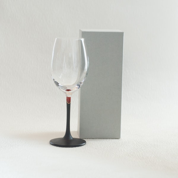 Lacquer colored wine glass / Red / Toba Shitsugei