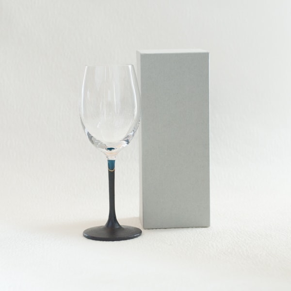 Lacquer colored wine glass / Blue / Toba Shitsugei