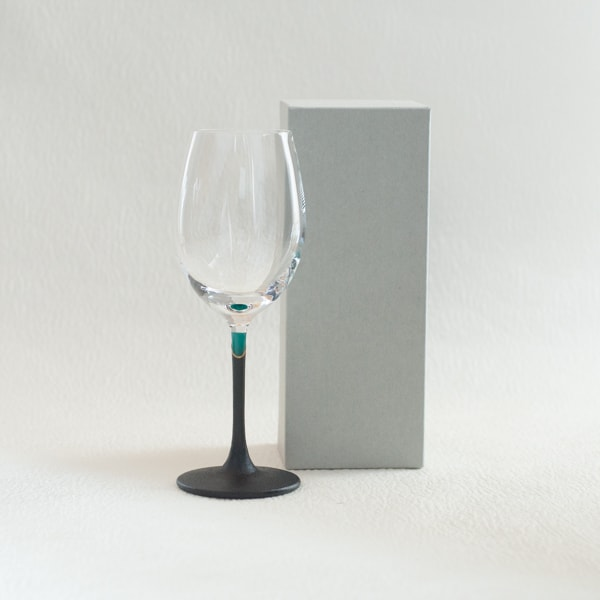 Lacquer colored wine glass / Green / Toba Shitsugei