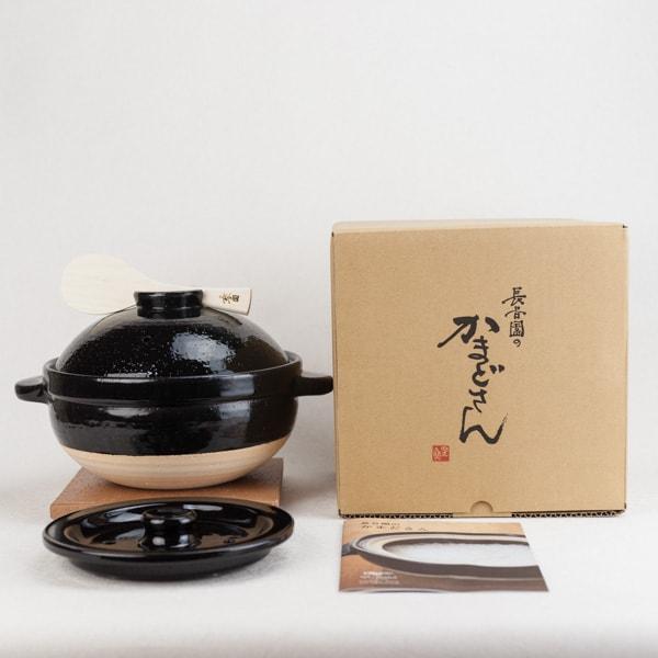 かまどさん土鍋 三合炊き 伊賀焼/長谷園 | 【送料無料】日本 ...