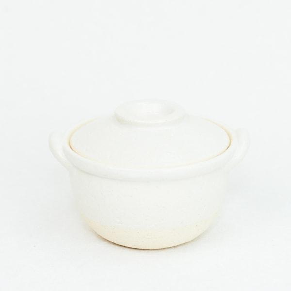 プチ土鍋 ホワイト 伊賀焼/長谷園