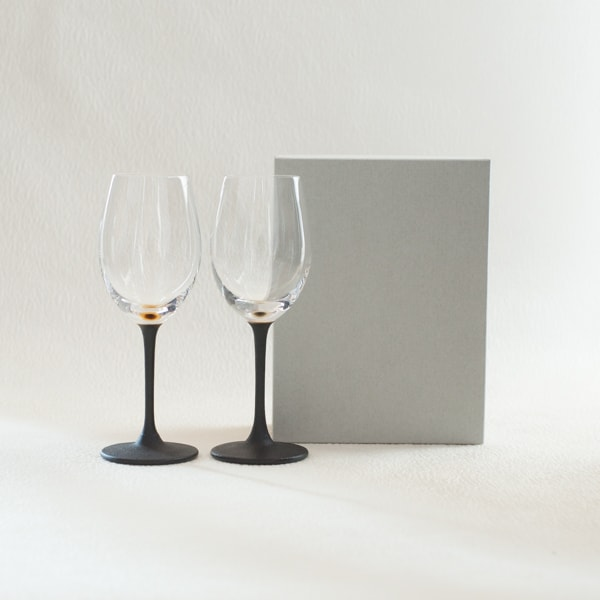 [Set] Pair lacquer colored wine glasses / Gold & Silver / Toba Shitsugei