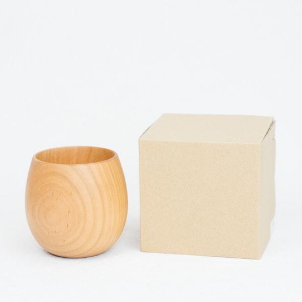 Wooden cup / SAKURA Egg / Plain / Gato Mikio Store