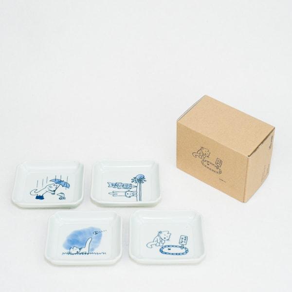 11ぴきのねこ・ねこの豆皿 4種セット花/東屋