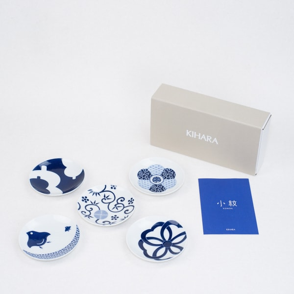 [Set] 5 plates of KOMON Mamezara / Kissho-mon / KIHARA
