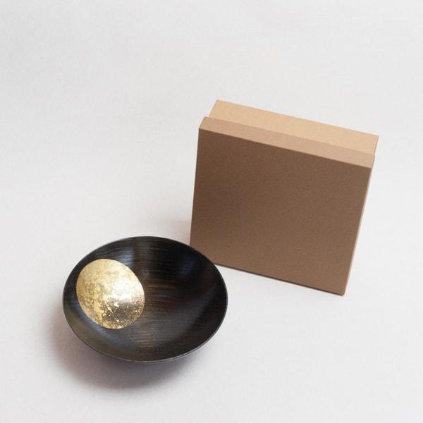Oborozuki bowl / Night moon (Black) / 6 sun / Hakuichi