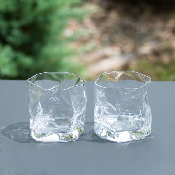 [Set] Pair CRUMPLE OLD / Whiskey glass / Kimura glass