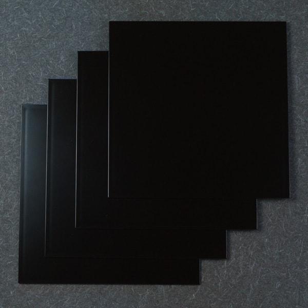 【セット】1尺1寸 角敷膳・折敷 漆黒 4枚セット/日本デザインストア