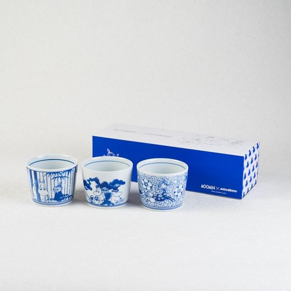 MOOMIN SOMETSUKE -猪口- 3個組スリーブセット/そば猪口/amabro